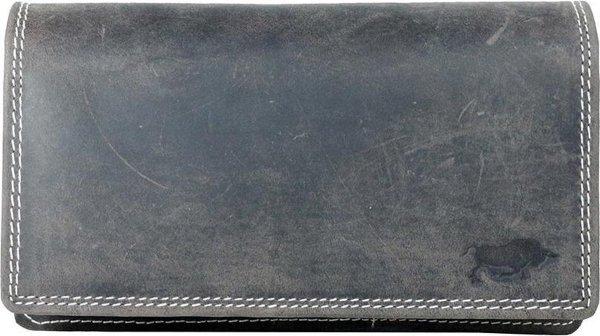 Leren Dames Portemonnee Donkerbruin RFID - Ideale Dames Portemonnee Donkerbruin Vintage Leer - Anti Skim