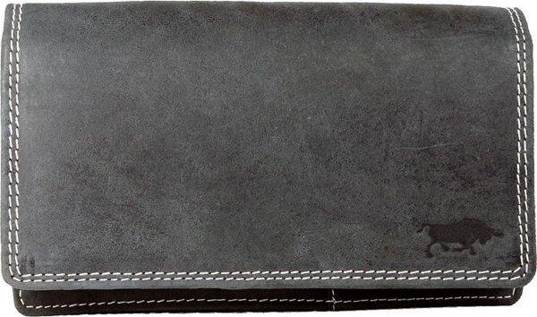 Leren Dames Portemonnee Zwart RFID - Ideale Dames Portemonnee Zwart Vintage Leer - Anti Skim