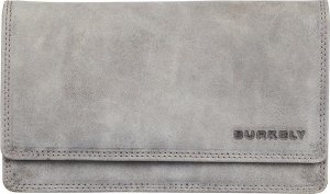 Leren portemonnee BURKELY Stacey Multi Wallet M Grijs