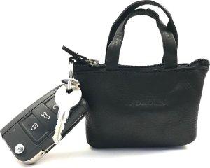Lundholm - Sleuteletui leer met rits dames - autosleutel etui leer zwart - cadeau voor vrouw