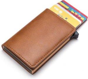 Luxe kunstlederen pasjeshouder bruin | Creditcardhouder | Pasjeshouder mannen | Pasjeshouder vrouwen | Bescherming met RFID | 12 pasjes + briefgeld | Limited Edition