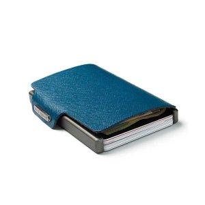 Mondraghi RFID Wallet Saffiano Blauw