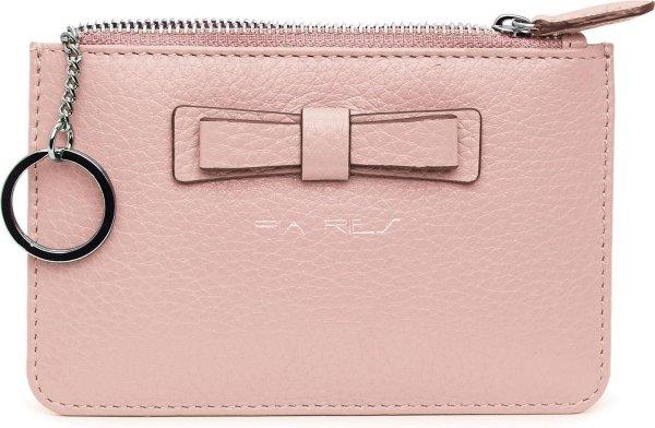 Pia Ries 601-16 Kleine portemonnee voor munten, kaarten en een sleutel - Pastel Roze