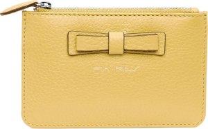 Pia Ries 601-8 Kleine portemonnee voor munten, kaarten en een sleutel - Pastel Geel