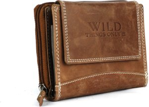 Portemonnee dames Wild Leather Only !!! 13X3X10cm (RS-30-13) - lichtbruin -