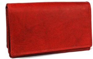 Portemonnee dames Wild Leather Only !!! Buffel leder- (FLRS-5017-101-36)-rood