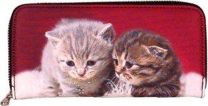 Portemonnee groot poesjes/kittens-