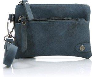 Portemonnee met voorvak blauw met ritssluiting