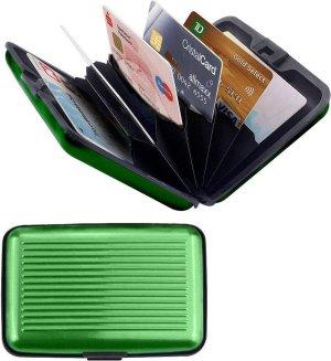Premium Lichtgewicht Aluwallet Portemonnee Pashouder Groen - 8x10cm | Portemonnees | Anti-Skimming | Creditcard Houder | Geldknip | Pasjeshouder