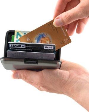RFID Anti-Skim Aluminium Creditcardhouder - Kaarthouder - Card Protector - Pasjeshouder - Donkergrijs