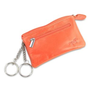 Safekeepers Leren Sleuteletui - Lang - 2 Ringen - Oranje