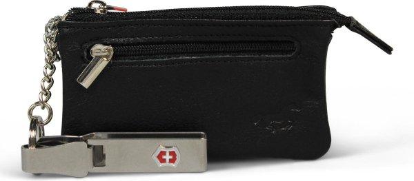 Safekeepers Leren Sleuteletui met clip - Lang - 2 Ringen - Zwart