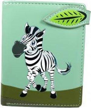 Shagwear Portemonnee - Compact Beugelportemonnee - Dames - Kunstleer - Zebra (0842sm)