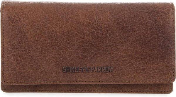 Spikes & Sparrow Dames portemonnee Bronco Leer - cognac