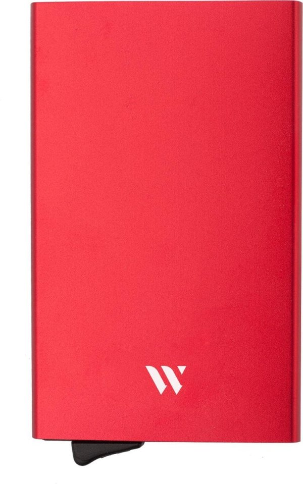 Wallix® Pasjeshouder - Aluminium - Uitschuifbaar - Unisex Creditcardhouder - 100% RFID Veilig - Rood