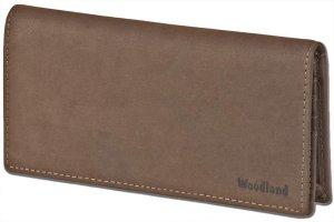 Woodland Leren Dames Portemonnee 'Elegant' - Plat Model - Bruin