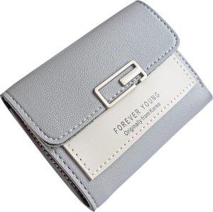 ZILOU® Portemonnee - Compact - Mini Wallet - Elegant - Dames - Kunstleer - Grijs