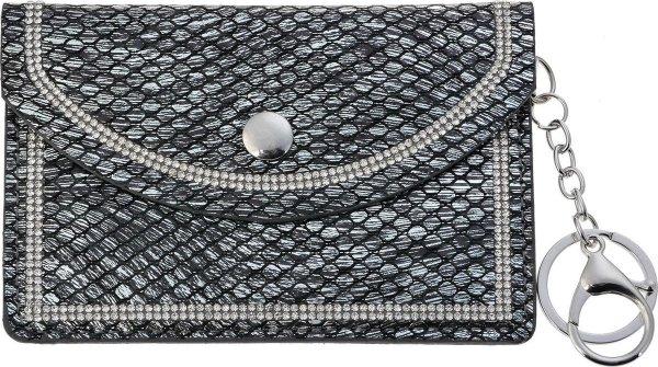 Juleeze Sleuteletui JZKW0023Z 9*13 cm - Zwart Polyurethaan ( PU) Sleutelhanger Portemonneetje