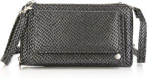 3 in 1 Clutch / Portemonnee / handtas | Slangen print - Zwart -Zilver