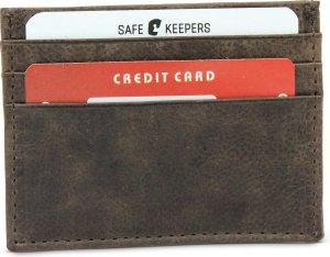 Bruin Creditcardhouder - Pasjeshouder op zak formaat - Creditcard beschermer met gestikte randen - 100% Echt Leder - art: 3108 - Merk: Safekeepers