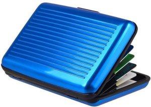 Kaarthouder - Pasjeshouder - Aluminium Portemonne - Blauw
