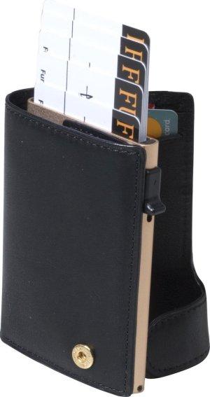 Tony Perotti Aluminium RFID portemonnee met papiergeld vak - Zwart