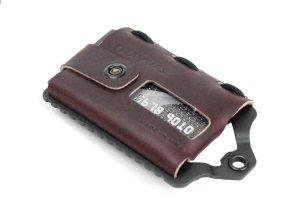 Trayvax Element Black Burgundy - Pasjeshouder Creditcardhouder Leer/Metaal RFID