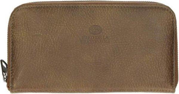 Fred De La Bretoniere Dames portemonnee Hand Buffed Leather Leer - bruin
