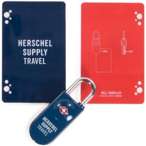 Herschel Supply Co. Pasjes portemonnees TSA Card Lock Blauw