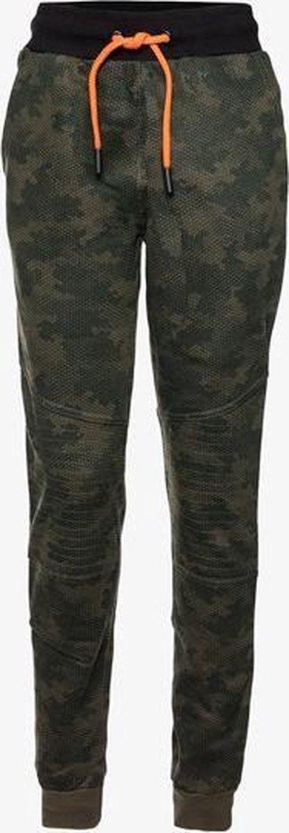 Oiboi jongens joggingbroek met camouflage print - Groen - Maat 134/140