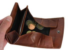 Opa portemonnee met groot schudbak cognac leer