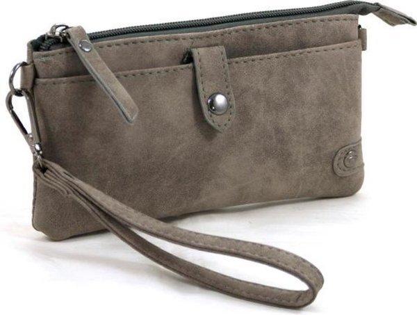 Portemonnee - tasje grijs met handige vakken