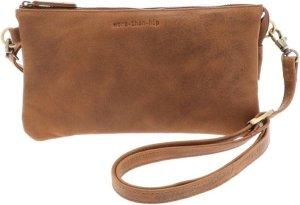 Portemonnee-tasje van vintage bruin ecoleer - Lucy