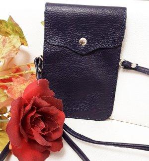 Rose in Pelle Dames crossbody tas | schoudertas|Zwart Leren Mobielen Tasje | Pasjeshouder | Portemonnee | Reistasje | Paspoort tasje