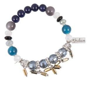 Juleeze Armband Dames JZBR0375BL - Blauw Metaal / kunststof ArmbandjesSieraden Dames