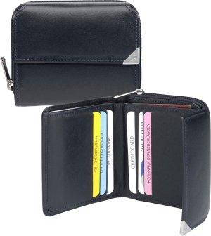 dR Amsterdam Dames portemonnee 28 Leer - blauw