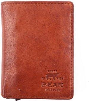 Bear Design RFID Creditcardhouder - Cognac