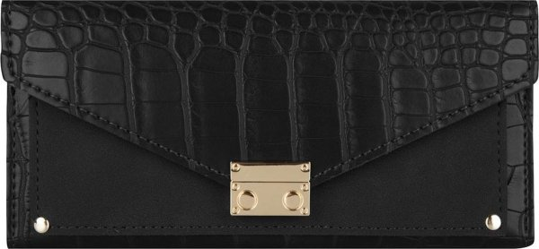 Jozemiek Croco portemonnee groot -Zwart