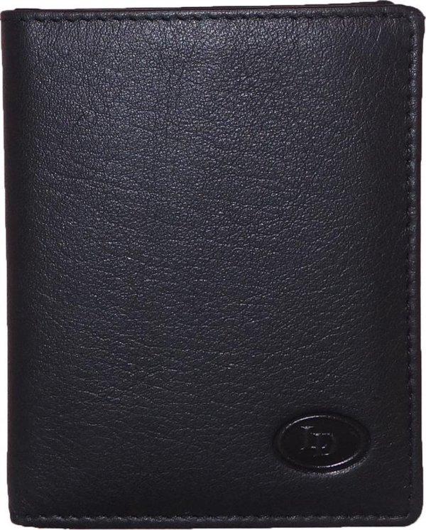 Leather Design Pasjeshouder / Portemonnee 1119 Zwart