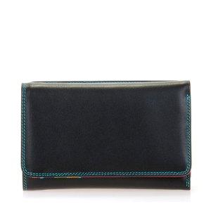 Mywalit Medium Tri-Fold Wallet Outer Zip Portemonnee Black/ Pace