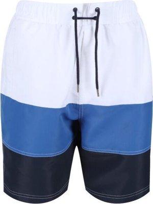 Regatta Zwembroek Bratchmar Vi Heren Polyester Wit/blauw Maat S
