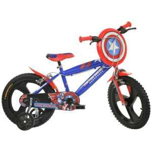 414UL-CA Captain America 14 Inch 24 cm Jongens Knijprem Blauw