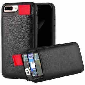 Apple Iphone 7/8 Zwart Lederen Ostar Hoesje/case Met Pasjeshouder