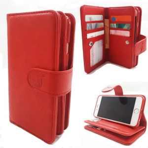 Apple iPhone 7 Plus/8 Plus - Burned Red - Pasjeshouder -