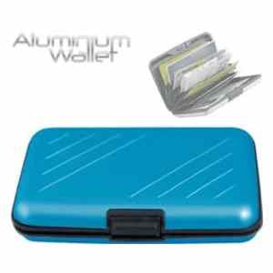 Bekend van TV Orange Donkey - Aluminium Portemonnee Blauw