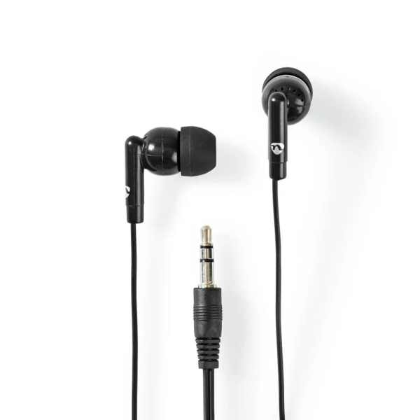 Nedis HPWD1000BK Bedrade Koptelefoon 1,2 M Ronde Kabel In-ear Zwart