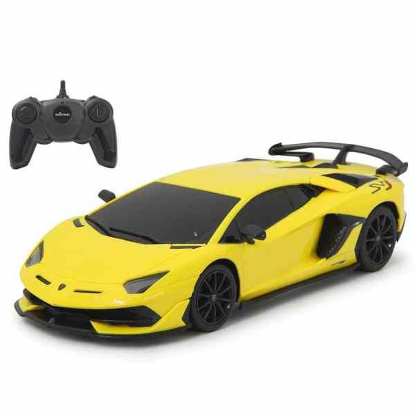 RC Lamborghini Aventador SVJ 1:24 jongens 27 MHz geel