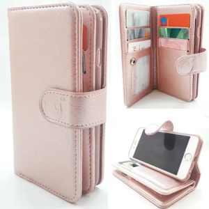 Samsung J6 Plus SM-J610 - Rose Gold - Pasjeshouder - Telefoonhoesje