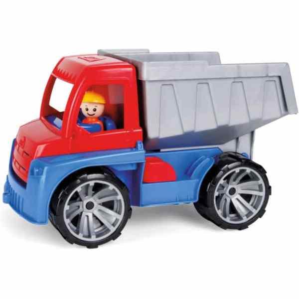 vrachtwagen Truxx jongens 37,6 x 21,4 cm rood/blauw