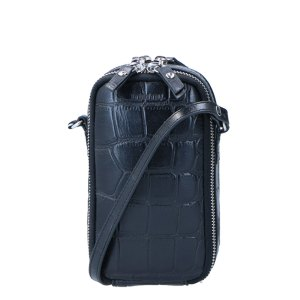 LouLou Essentiels Vintage Croco Mobilebag Black